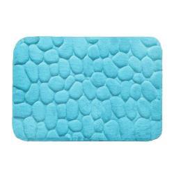 Alfombra Microfibra Color Azul Cielo
