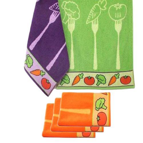 Pa o de cocina trovador modelo verduras 100 algodon de rizo - Panos de cocina ...